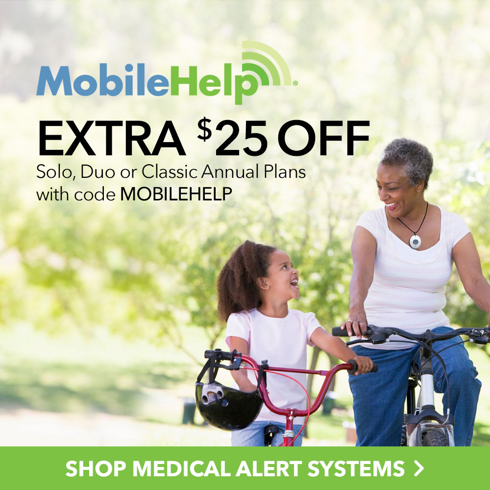 Extra $25 Off MobileHelp Solo, Duo or Classic Annual Plan with code MOBILEHELP at MobileHelp.com