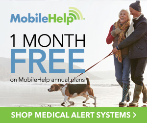 1 Month FREE Service On Annual Plans at MobileHelp.com, no code needed.