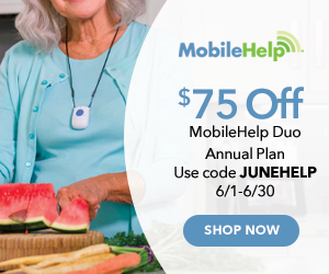 $75 Off MobileHelp Duo Annual Plan with code JUNEHELP at MobileHelp.com 6/1-6/30/21.