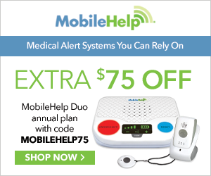 $75 Off MobileHelp Duo Annual Plan with code MOBILEHELP75 at MobileHelp.com 10/1-12/31/20.