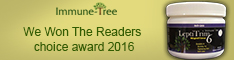 Immune Tree Readers Choice Award Winning Colostrum