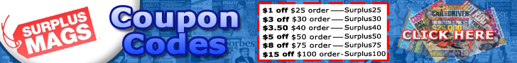 Magazine Coupons at SurplusMags