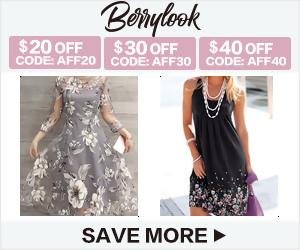 Dresses $20 Off $199+ at BerryLook.com