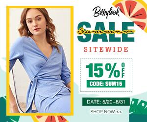 BerryLook Summer Sale 15% off $ 99, code: SUM15