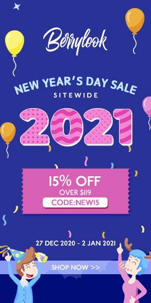 BerryLook New Year's Day 15% OFF $119 Code:new15