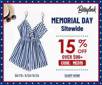 BerryLook Memorial Day 15% off $99, code: MED15