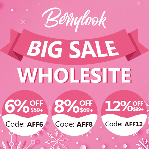 Whole Site 6%/8%/12% Off at Berrylook.com!!!