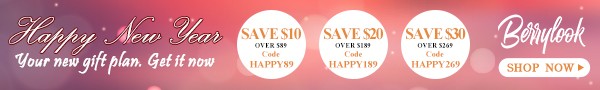 Happy New Year ! Big sale At BerryLook! Buy Now! Time Limited! December 29th-January1st save $30 over $269!