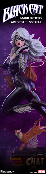 Black Cat Statue by Sideshow Collectibles Mark Brooks Artist Series