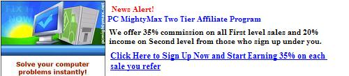 Sing Up Now for PC MightyMax Two Tier Affiliate Program
