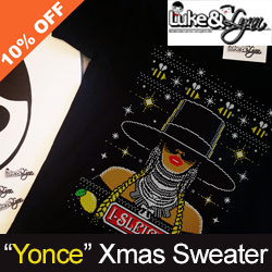"""Bey-Sleigh"" Ugly Xmas Unisex (Men/Women) Sweater / Sweatshirt by Luke&Lynn Clothing"