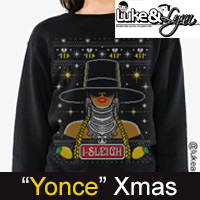 "Beyonce ""Bey-Sleigh"" Ugly Xmas Unisex (Men/Women) Sweater / Sweatshirt by Luke&Lynn Clothing"