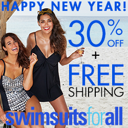 Happy New Year - Take 30% off + Free Shipping at swimsuitsforall.com - Shop Now!