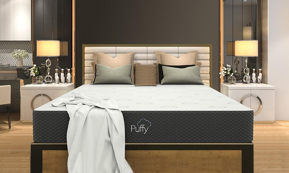 image of Puffy mattress in bedroom