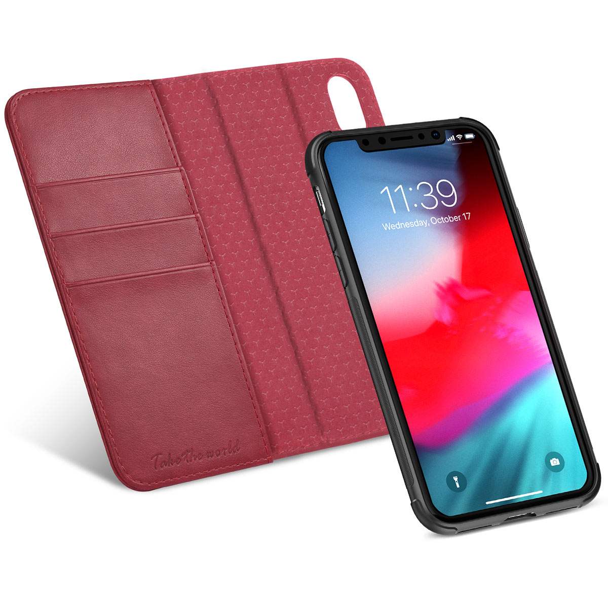 TUCCH iPhone XS Wallet Case