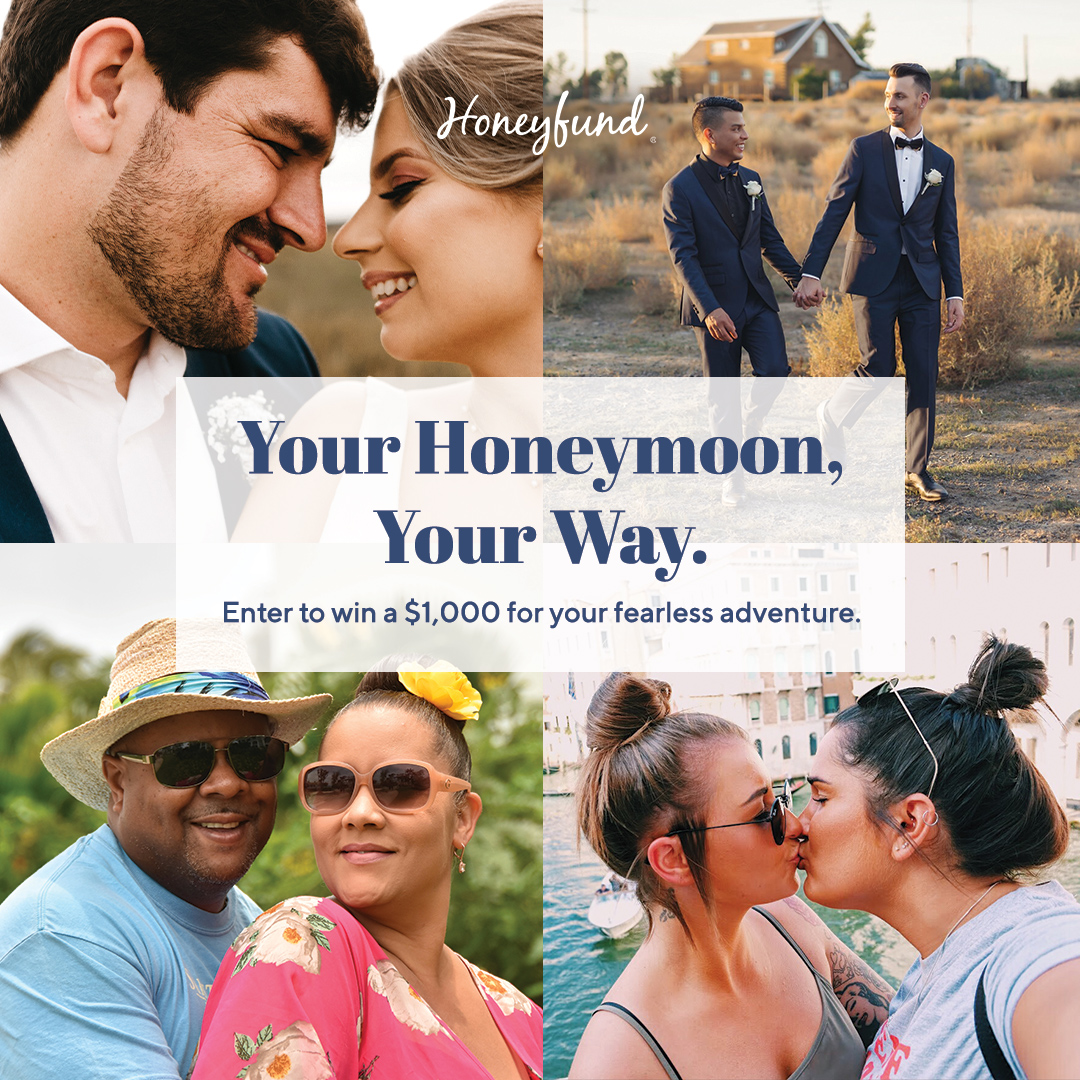 Enter Honeyfund's Honeymoon Your Way Giveaway where we're giving one lucky couple $1,000 towards their honeyfund registry.