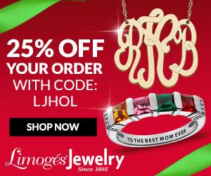 25% Off at LimogesJewelry.com with code LJHOL