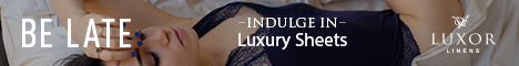 Be late. Indulge in luxury sheets