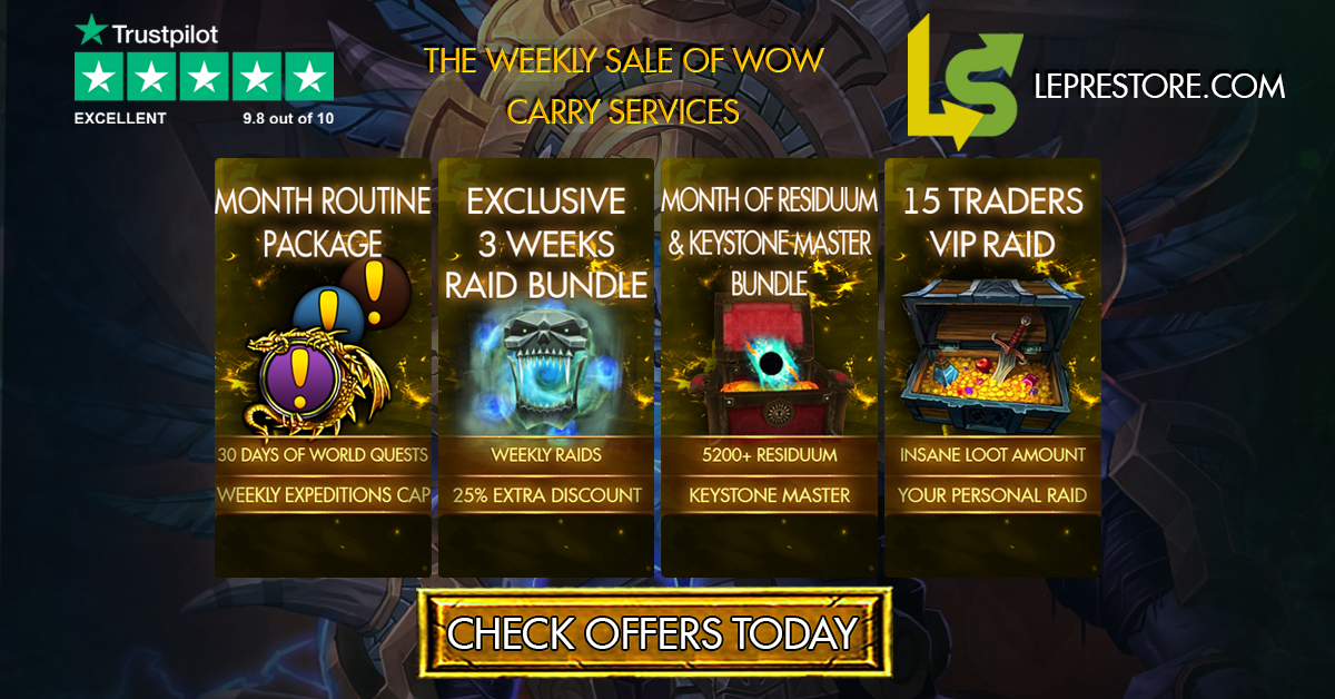 The Weekly Sale of WoW Carry Services