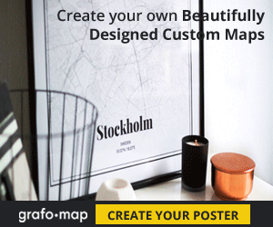 Grafomap.com - Custom maps and posters