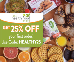 Get 25% off your first order on The Health Food Store