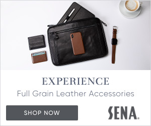 Experience Full Grain Leather Accessories - Shop Now | SENA