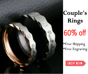 Get 60% Off on All Couple's Rings