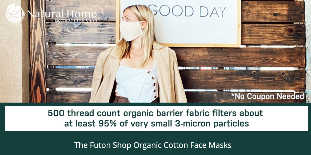 30% off Organic Cotton Face Mask