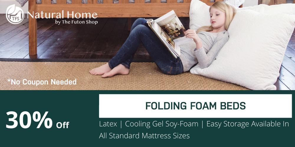 30% OFF Folding Foam Beds