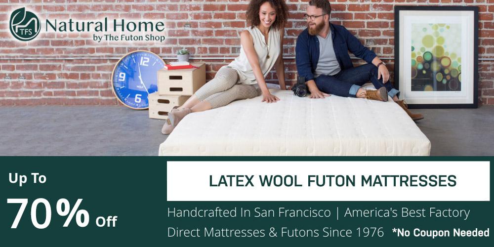 65% OFF Latex Wool Futon Mattresses