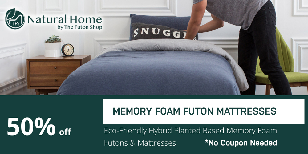 50% OFF Memory Foam Futon Mattresses