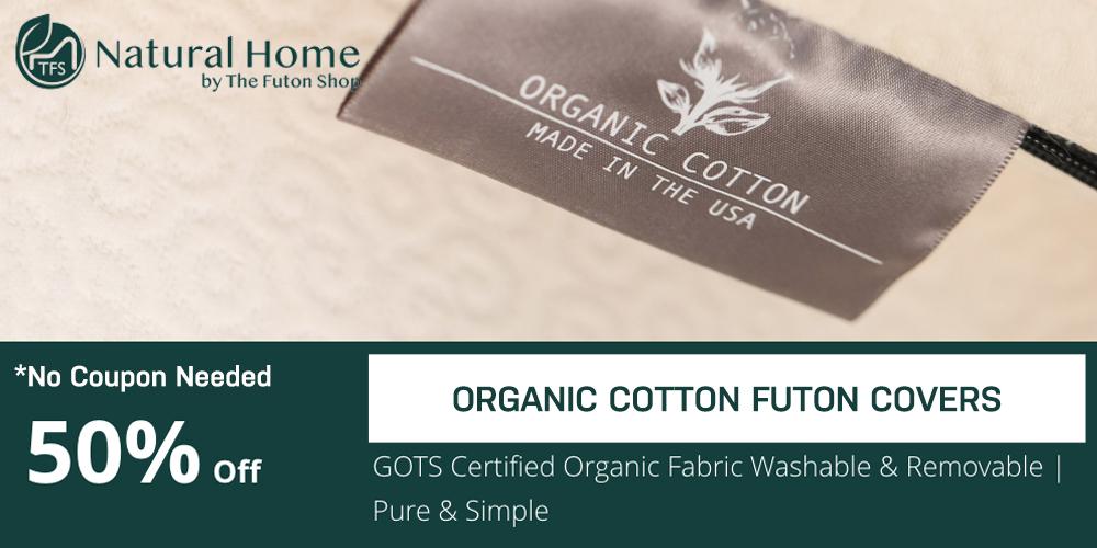 50% OFF Organic Cotton Futon Covers