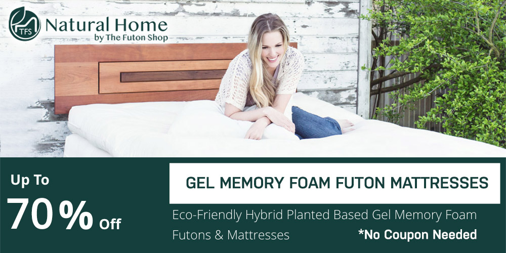 65% OFF Gel Memory Foam Futon Mattresses
