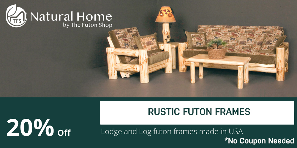 20% OFF Rustic Futon Frames