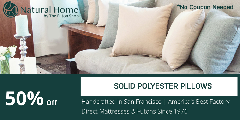 50% OFF Solid Polyester Pillows