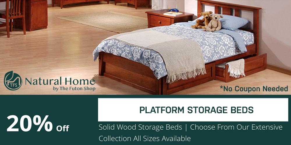 20% OFF Platform Storage Beds
