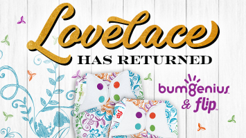 bumGenius and Flip Cloth Diapers in the Lovelace Print