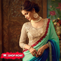 Fancy Silk Shaded Party Wear Saree