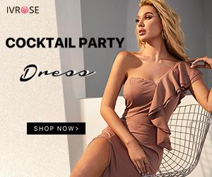 IVRose Fashion Exclusive Design, Cocktail Party Dress