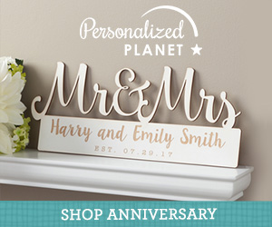 Shop anniversary gifts at PersonalizedPlanet.com