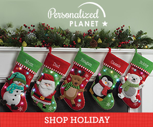 Shop holiday gifts at PersonalizedPlanet.com