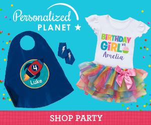 Shop party gifts and supplies at PersonalizedPlanet.com
