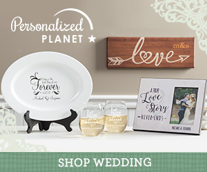 Shop wedding gifts at PersonalizedPlanet.com