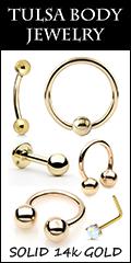 Tulsa Body Jewelry 14k Gold