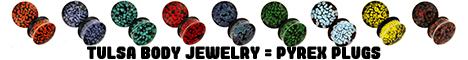 Tulsa Body Jewelry Glass Plugs