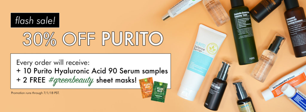 Save 30% off Purito products and receive a special gift at Beautytap.com!