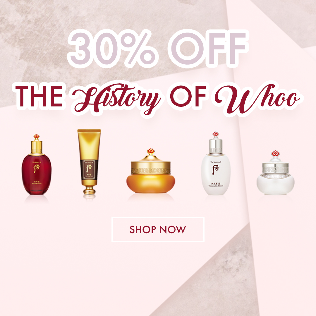 Save 30% off The History of Whoo at Beautytap, your source for all things K-beauty!