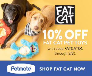 10% Off Fat Cat Pet Toys with code FATCATQ1 at Petmate.com 1/1-3/31/21.