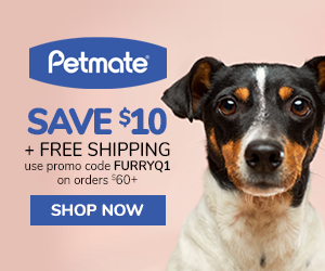$10 OFF + FREE SHIPPING On Orders $60+ with code FURRYQ1 at Petmate.com 1/16-3/31/20.
