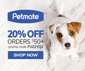 20% Off Orders $50+ with code FUZZYQ2 at Petmate.com 4/1-6/30/20.